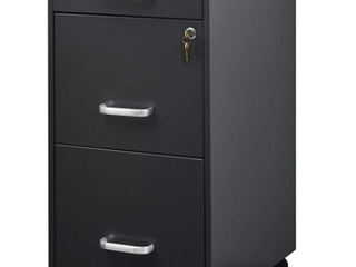 Arazy ST 3 BFF File Cabinet  30 7x20 5x16 5 Inches  Charcoal