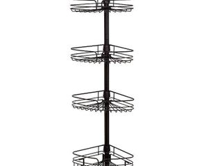 Zenna Home 4 Tier Tension Pole Caddy  Oil Rubbed Bronze