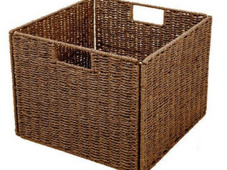 Foldable Storage Basket with Iron Wire Frame By Trademark Innovations  Set of 3