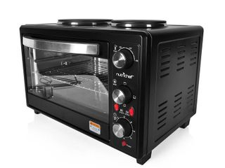 NutriChef PKRTO28   Multi Function Convection Oven   Counter Top Rotisserie Toaster Oven Convection Cooker with Dual Food Warming Hot Plates