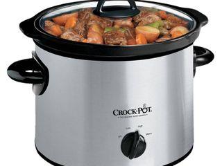 Crock Pot 3qt Manual Slow Cooker   Silver