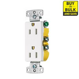 Hubbell 10 Pack 15 125 Volt White Indoor Decorator Wall Outlet