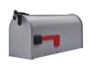 Gibraltar Grayson Medium  Galvanized Steel  Gray  Post Mount Mailbox