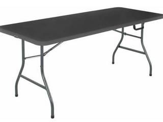 Cosco Signature 6ft Fold In Half Resin Table Black