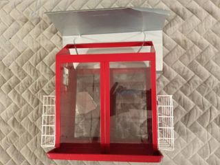 Metal Feeder with Suet Cage