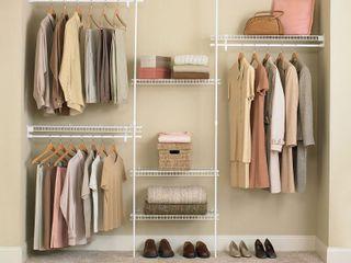 ClosetMaid SuperSlide Closet Organizer Kit   White  5  to 8
