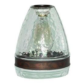 Portfolio 7 5 in H 6 in W Clear Textured Glass Bell Pendant light Shade