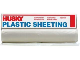 Husky 6 ml Polyethylene Opaque Plastic Sheeting  6  x 100