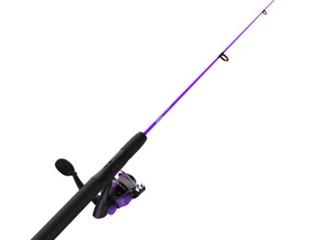 Zebco Dock Demon Purple 30 In 1 Pc M Spin Combo 6lB line