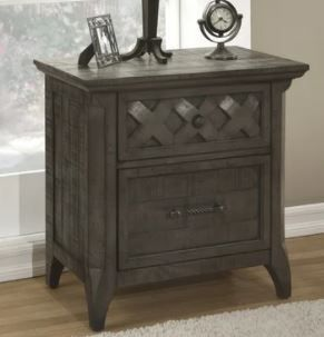 Martin Svensson Home Mendocino 2 Drawer Nightstand  Grey Retail 239 99