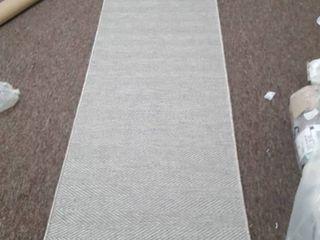 Porch   Den Reiling Heather Grey Stripe Indoor Outdoor Flat Weave Rug  Retail 141 99
