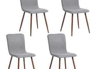 Coavas Dining Chair  4 Pieces in Set  Heather Grey