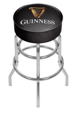 Guinness Chrome Bar Stool with Swivel   Harp  Retail 97 99