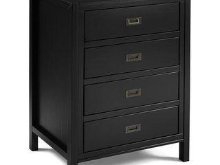 40  Classic Solid Wood 4 Drawer Chest   Black