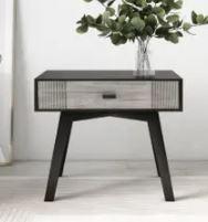 Nova Domus Bude Modern Grey   Black End Table  Retail 277 99