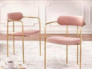 Simple living Retro Velvet Dining Arm Chair  Set of 2  Retail 239 49