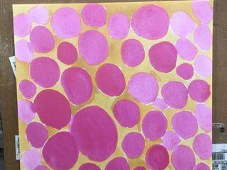Designart  Pink Pebbles  Mid Century Modern Canvas Art Print Retail 79 98