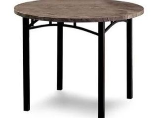 Carbon loft Maggio Industrial 40 inch Antique Brown Round Dining Table Retail 229 99