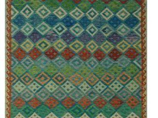 Noori Rug Sangat Kilim Arub Blue Rust Rug   6 6  x 9 6  Retail 401 47