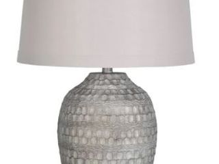 lamps Per Se 27 875 inch Antique Silver with White Wash Table lamp  Set of 2  Retail 183 99