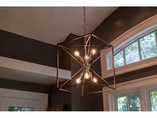 Sadler 6 light Industrial Square Frame Sputnik Pendant   Silver and Black  Retail 221 26