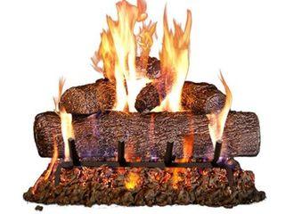 Peterson Real Fyre 24 inch live Oak log Set With Vented Burner  Match lit Gas