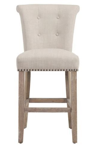 The Gray Barn Mustang Beige Fabric Counter Stool  Set of 2  Retail 347 99