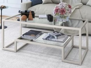 Athena Glam Hand Crafted Geometric Coffee Table  Retail 147 99