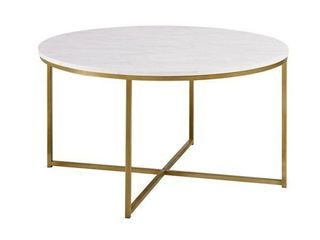 Silver Orchid Helbling 36 inch Round Coffee Table Retail 141 99