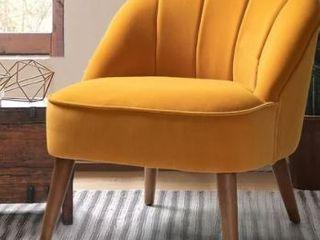 Carson Carrington Banarp Channel Tufted Accent Chair  Retail 185 99
