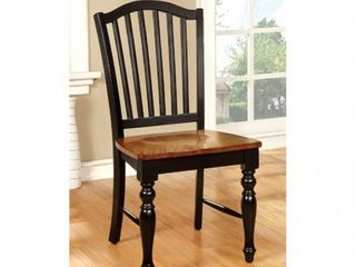 Side Chair  Black and Antique Oak