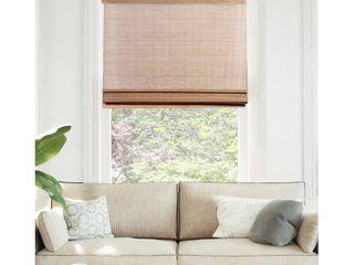 CHICOlOGY Cordless Bamboo Roman Shades  light Filtering