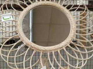 East At Main s Reese Rattan Mirror  Retail 79 98