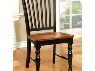 Furniture of America levole Two tone Country Style Dining Chairs  Set of 2  Retail 243 52