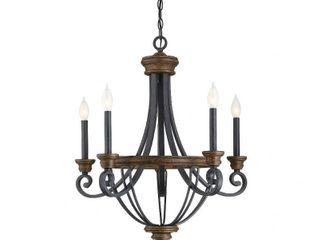 Wickham 5 light Chandelier Whiskey Wood  Retail 570 00