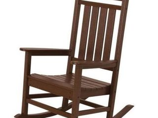 Pre   Assembled   PolyWood Brown Rocking Chair