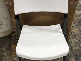 Flash Furniture HERCUlES Series 330 lb Capacity Plastic Folding Chair with Charcoal Frame  White  Set of 6