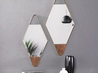 Holly   Martin Rawlins Gold Diamond Wall Mirrors   2pc Set  Retail 115 99