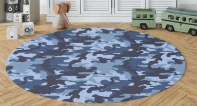 CAMO FlOW NAVY Area Rug by Kavka Designs  Retail 121 99