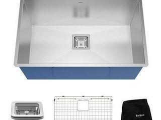 KRAUS Pax Stainless Steel 28 1 2 inch 1 Bowl Undermount Kitchen Sink  Retail 289 95
