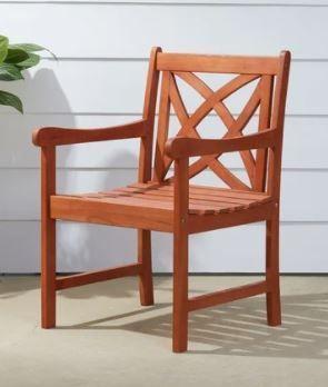 Surfside Eucalyptus Wood Armchair by Havenside Home Retail 101 99