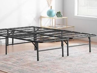 linenspa 14 Inch Folding metal platform Bed Frame   13 Inches Of Clearance