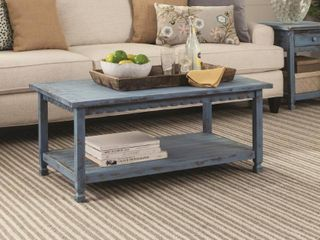Alaterre Country Cottage 42 l Coffee Table  Red Antique Finish Retail 237 99