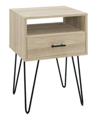 Carson Carrington 18 inch 1 Drawer Hairpin Side Table  Retail 146 99