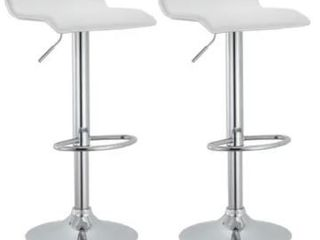 Modern Adjustable Bar Stools  Set of 2  Retail 111 49