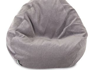 Majestic Home Goods Villa Velvet Collection Bean Bag Chair Small large  Retail 103 99