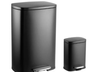 happimess Connor 13 Gallon Trash Can with lid and FREE Mini Trash Can  Retail 162 49