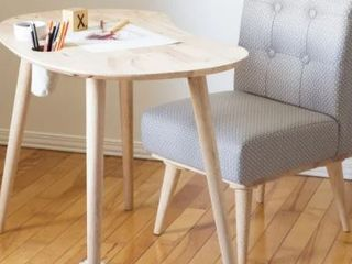 South Shore Sweedi Solid Wood Kids Table with 1 Upholstered Chair Retail 212 49