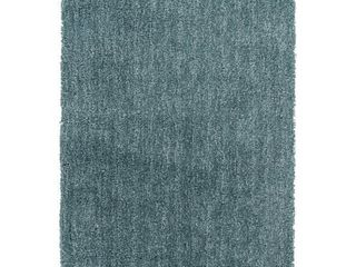 Surya Mellow MlW 9014 Shag Hand Woven 100  Polyester Pale Blue 5  x 7  Area Rug