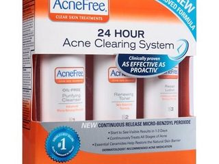 AcneFree Oil Free 24 HR Acne Treatment Kit  3 Step Acne Clearing System